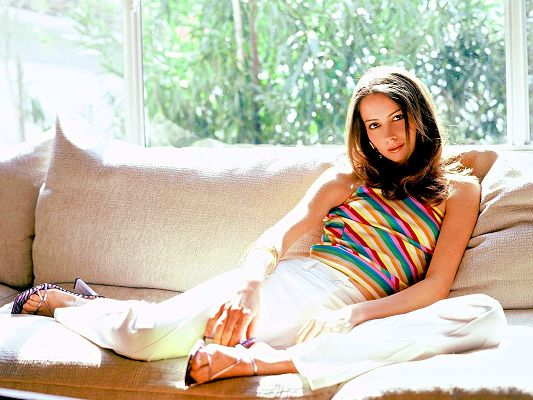 Free Actresses Wallpaper, Sunlight is Pouring Amy Acker, She is Warm and Sweet