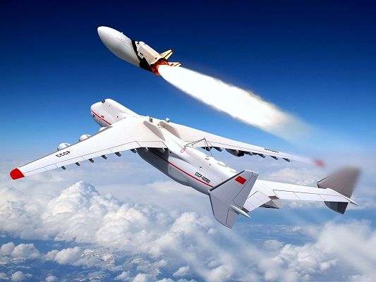 click to free download the wallpaper--Free Aircrafts Wallpaper, Military Airplanes Sending Its Rocket, Powerful Weapon