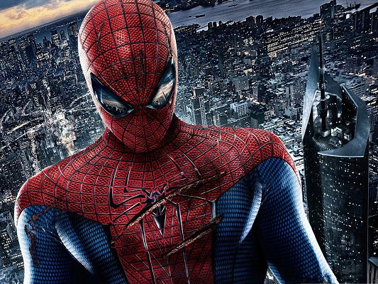 click to free download the wallpaper--Free Best Movies, The Amazing Spider Man, Keep the City Under His Watch