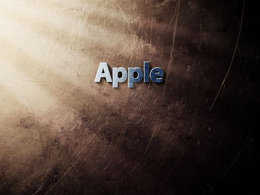 Free Brandy Post, Apple Logo in Blue Letters, Crossed and Brown Background, Great in Look