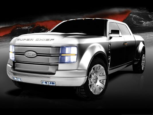 Free Car Wallpapers, Ford F 250 Super Chief Concept, the Dark Sky