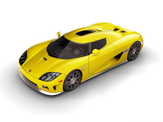 Free Car Wallpapers, Yellow Koenigsegg CCX, Prosperous Look