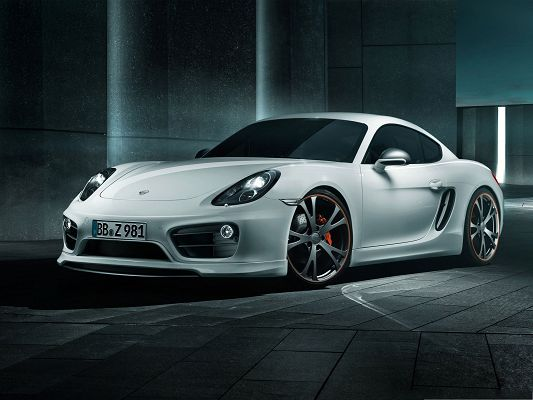 click to free download the wallpaper--Free Cars Wallpaper, 2013 Porsche Cayman, Perfect Speed and Outlook