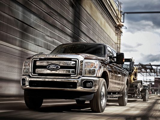 click to free download the wallpaper--Free Cars Wallpaper, Ford F Series Super Duty Car, Fulfilling Hard Tasks