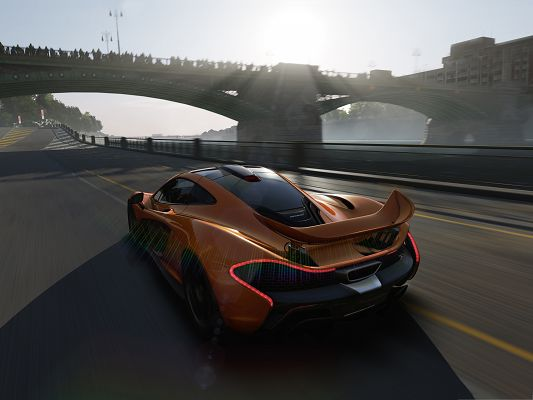 click to free download the wallpaper--Free Cars Wallpaper, Forza Motorsport Running in the Sunlight