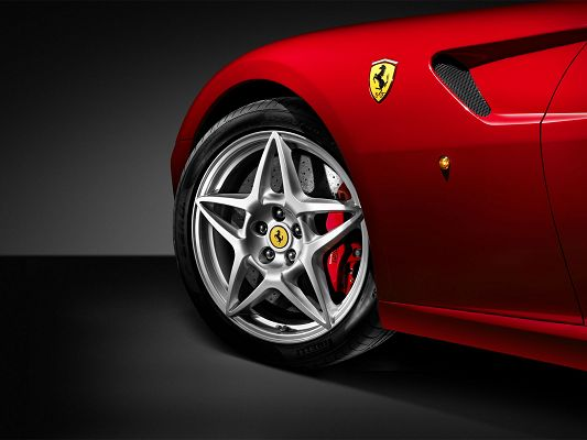 Free Download Cars Wallpaper - Ferrari GTB Post, Half of Its Face is Shown, Yet Impressive Enough to Grab Attention