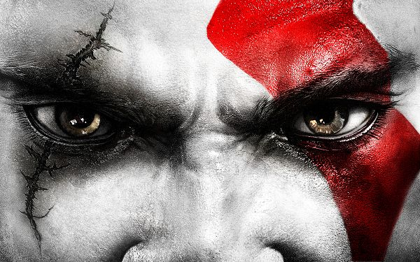 Free Download TV & Movies Post - Kratos Eyes Post in Pixel of 1920x1200, the Man's Eyes Are With Scars, a Dangerous Guy
