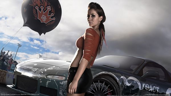 Free Download TV & Movies Post - Need for Speed Prostreet Girls, a Car Show is Being Put on, the Model is Cool and Hot