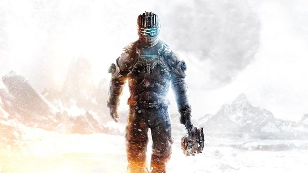 click to free download the wallpaper--Free Download TV & Movies Post of Dead Space, Man Walking Alone in Snowy World, He is Determined to Reach His Destination