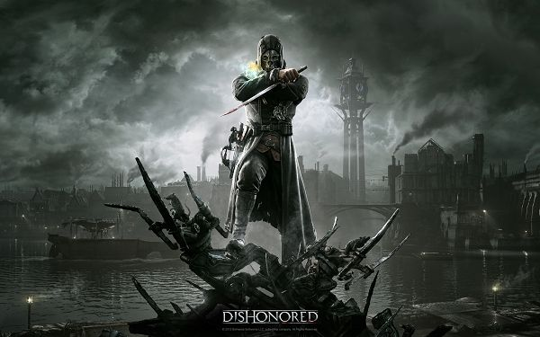 click to free download the wallpaper--Free Download TV & Movies Post of Dishonored, Man in Sword, He Must be Bringing in Evil and Poison, Sweep Him Away!