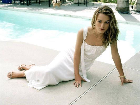Free Download TV & Movies Post of Keira Knightley, Young Lady by Swimming Pool Side, Quite Reminding of a Mermaid