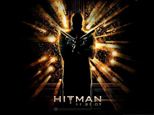 click to free download the wallpaper--Free Film Wallpaper, Hitman Movie, the Golden Man for Widescreen