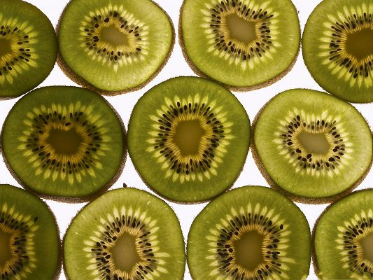 Free Fruit Wallpaper, Kiwis Cut into Half, Want a Bite?