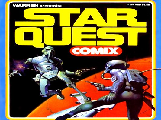 click to free download the wallpaper--Free Movie Posts - 1978 StarQuest Comix, Two Guys in Severe Fight, Hard to Win