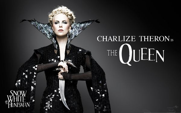 click to free download the wallpaper--Free Movie Wallpaper, Snow White And The HuntsMan, Charlize Theron as the Queen