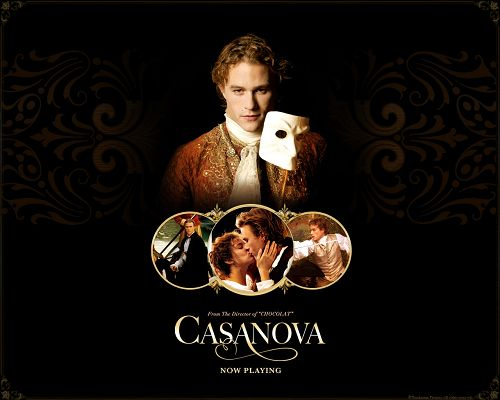 click to free download the wallpaper--Free Movies Post, Heath Ledger in Casanova, White Mask, He is a Living Presence