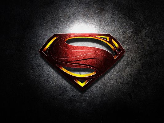 click to free download the wallpaper--Free Movies Post, Man Of Steel, Symbol Functioning as His Heart