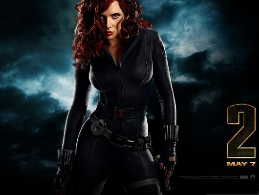 click to free download the wallpaper--Free Movies Post - The Black Widow in Iron Man 2