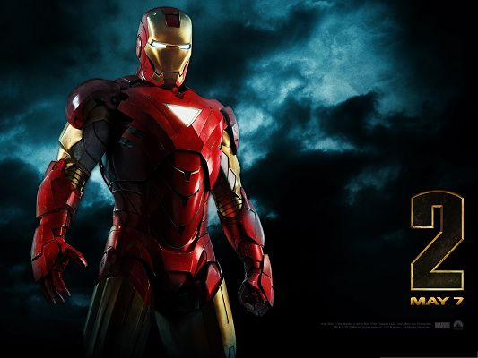click to free download the wallpaper--Free Movies Wallpaper, Iron Man 2, the Super War Machine