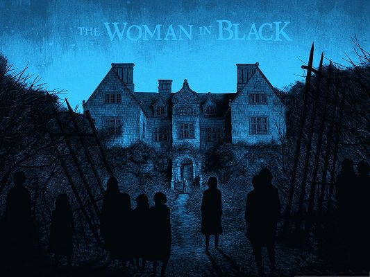 Free Movies Wallpaper, The Woman in Black, Evil House