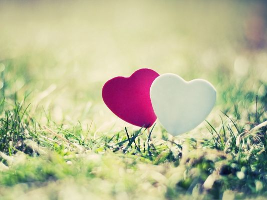 click to free download the wallpaper--Free Romantic Wallpaper, Valentine's Day Hearts, Happy Outdoor