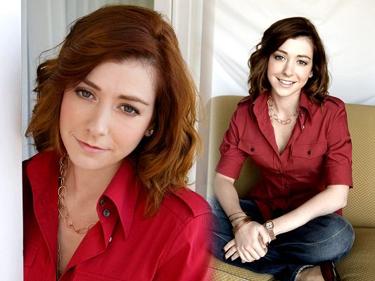 Free TV & Movie Posts, Double Figures of Alyson Hannigan, the Girl is Amazing in Look