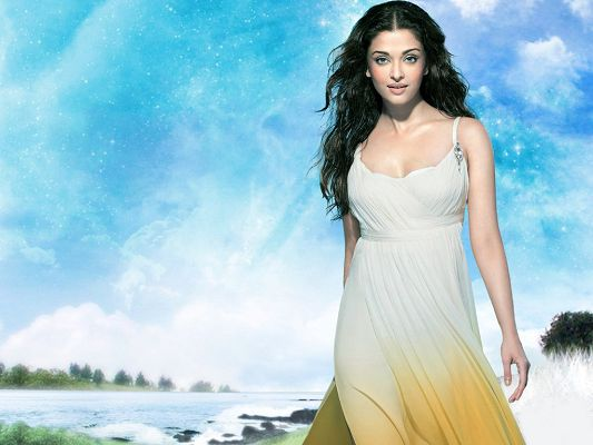 Free TV & Movies Pics, Aishwarya Rai Walking in Beauty, She is Like the Goddess