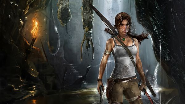 Free TV & Movies Picture - Lara Croft Reborn Post in Pixel of 1920x1080, the Exhausted Lara Can Still be Hard to Beat