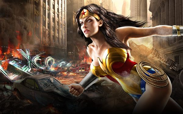 Free TV & Movies Picture - Wonder Woman Post in Pixel of 1920x1200, Lady in Sexy Dress, She is Yet Dangerous, Stay Away from Her