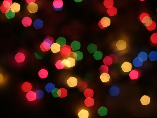 click to free download the wallpaper--Free Wallpaper Background, Colorful Light Reflections, Light Bokeh