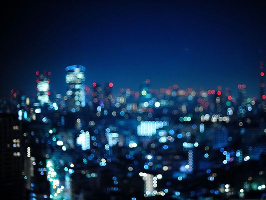 click to free download the wallpaper--Free Wallpaper Background, Tokyo in Japan, the Bokeh City