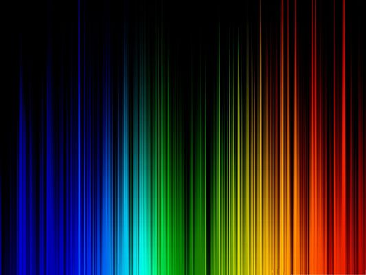 Free Wallpaper Backgrounds, Rainbow Lines on Dark Background, a Great Fit!