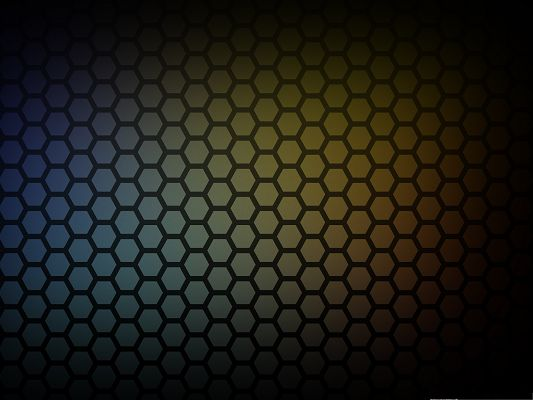 click to free download the wallpaper--Free Wallpaper for Computer, Honeycomb Pattern, the Middle Part Lighted Up