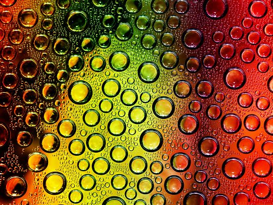 click to free download the wallpaper--Free Water Wallpaper, Colorful WaterDrops, Various Sizes