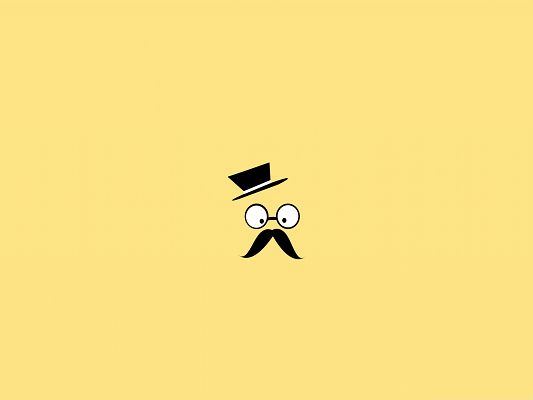 click to free download the wallpaper--Free and Fun Wallpaper, Mustache Man Vector Art, Shall Find Lots of Uses