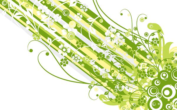 Free Scenery Wallpaper - A Green Vector Design, What an Amazing Scene!,click to download