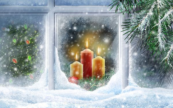 Free Scenery Wallpaper - Full of Christmas Atmosphere, Santa Clous Is Coming!