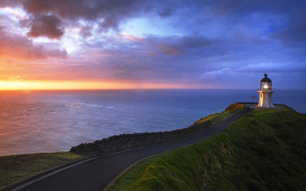 Free Scenery Wallpaper - Includes Cape Reinga Lighthouse, Leading You back to Home!,click to download