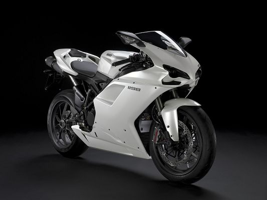 Free Scenery Wallpaper - Includes Ducati 1198 white, Fit for Motorcar Lovers!,click to download