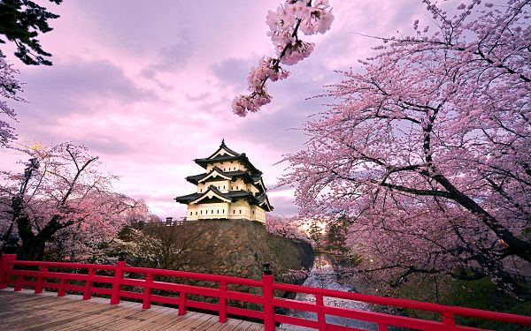 Free Scenery Wallpaper - Includes Hirosaki Castle, Looks Good on Any Digital Device!