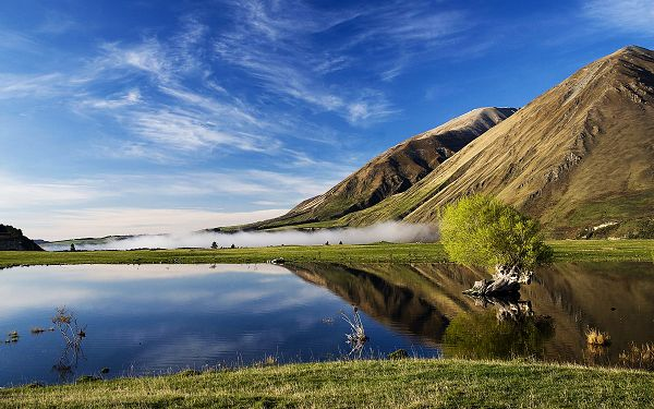 Free Scenery Wallpaper - Includes Lake Coleridge New Zealand, What a Wonderful Scene!