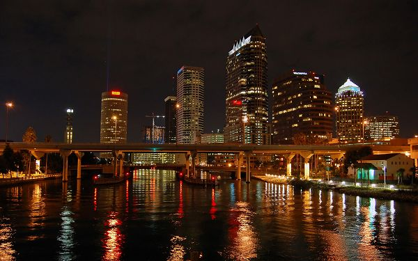 Free Scenery Wallpaper - Includes Tampa Bay Nights, More Prosperous than the Day Time!,click to download