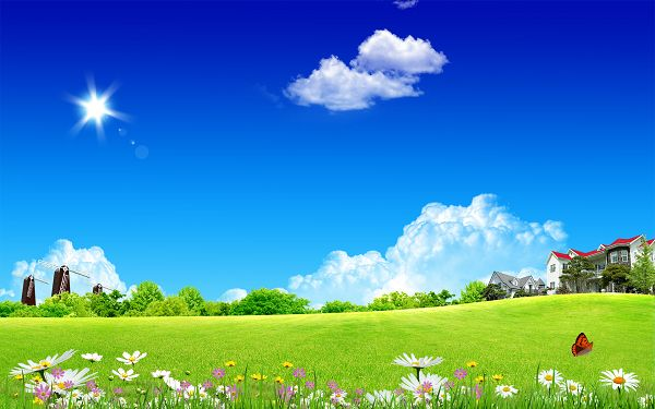 Free Scenery Wallpaper - Includes a Clean Home Sky, What an Amazing Scene!