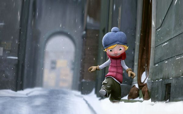 Free Scenery Wallpaper - Includes a Tall and Thin Boy, Winter is Fun in His Eyes!,click to download