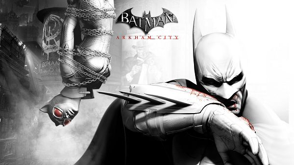 Free Scenery Wallpaper - Includes a Typical Scene of Batman Arkham City Video Game, a Must Have for the Batman's Fan!