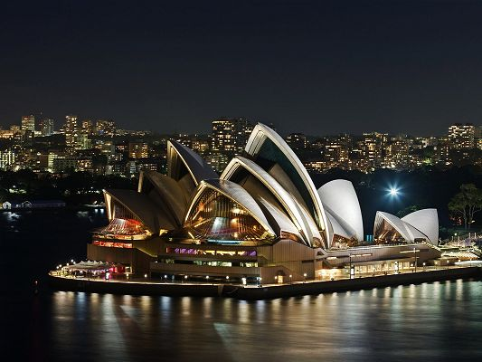 Free Scenery Wallpaper - Is Sydney Opera House Your Dreamy Place?,click to download
