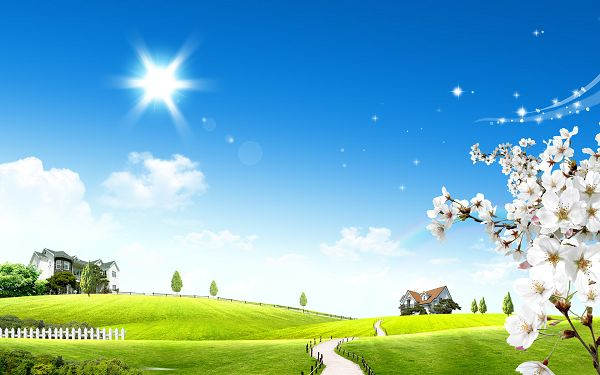 Free Scenery Wallpaper - Shows Bright Sun Glow, Fit For All Users!,click to download