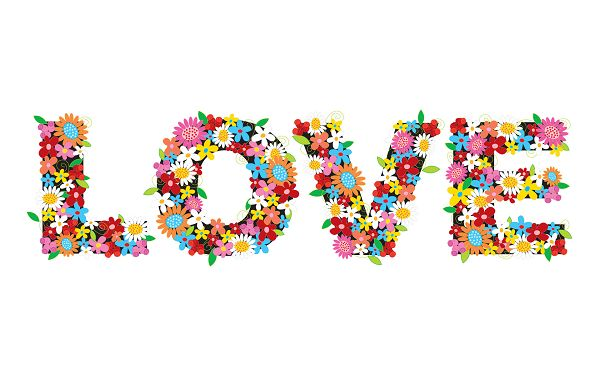 Free Scenery Wallpaper - Shows Flower Love, the Best Choice for Lovers!