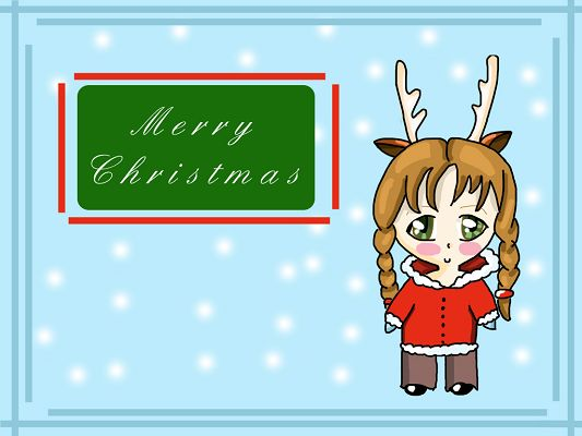 Free Wallpaper - A Lovely and Beautiful Girl Making Her Christmas Wish!