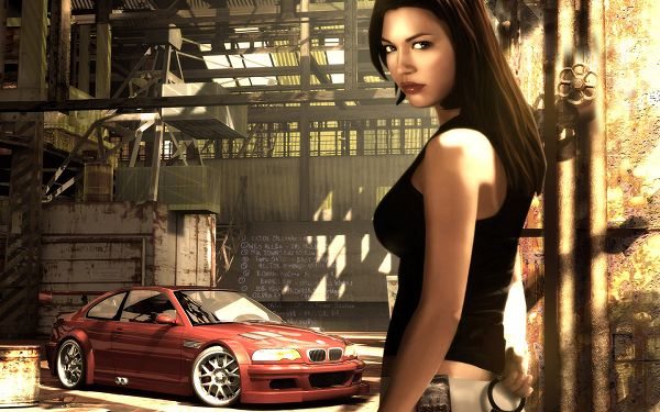 Free Wallpaper - A Sexy Girl and Her Sexy Car, Are You Scared by Her?,click to download